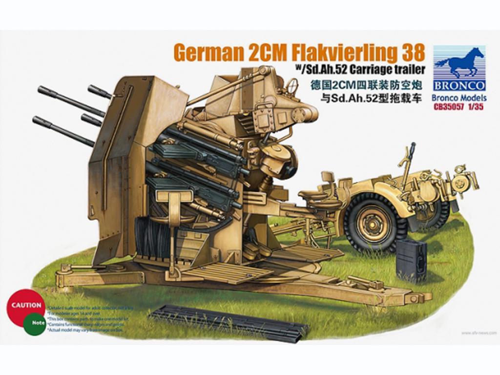 German 2cm Flakvierling 38 con remolque  (Vista 1)