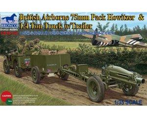 British 75mm Howitzer M1A1 & 1/4 Ton Tru  (Vista 1)