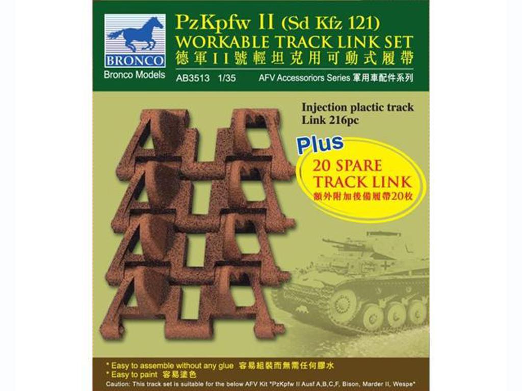PzKpfw II workable track link set  (Vista 1)