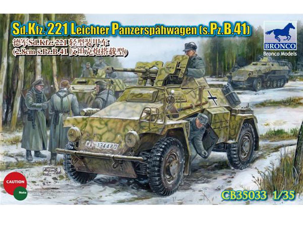 Sd.Kfz. 221 con cañón 2.8cm. s.Pz.B.41 (Vista 1)