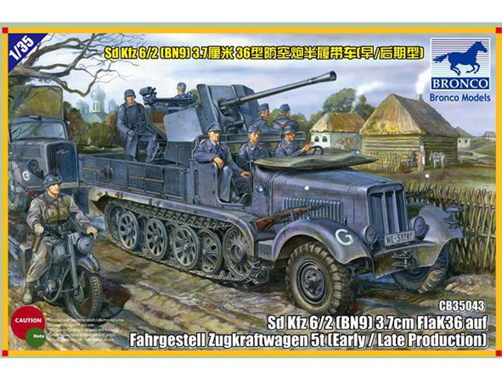 Sd.kfz 6/2 5t 3.7cm Flak36 half-track ( (Vista 1)