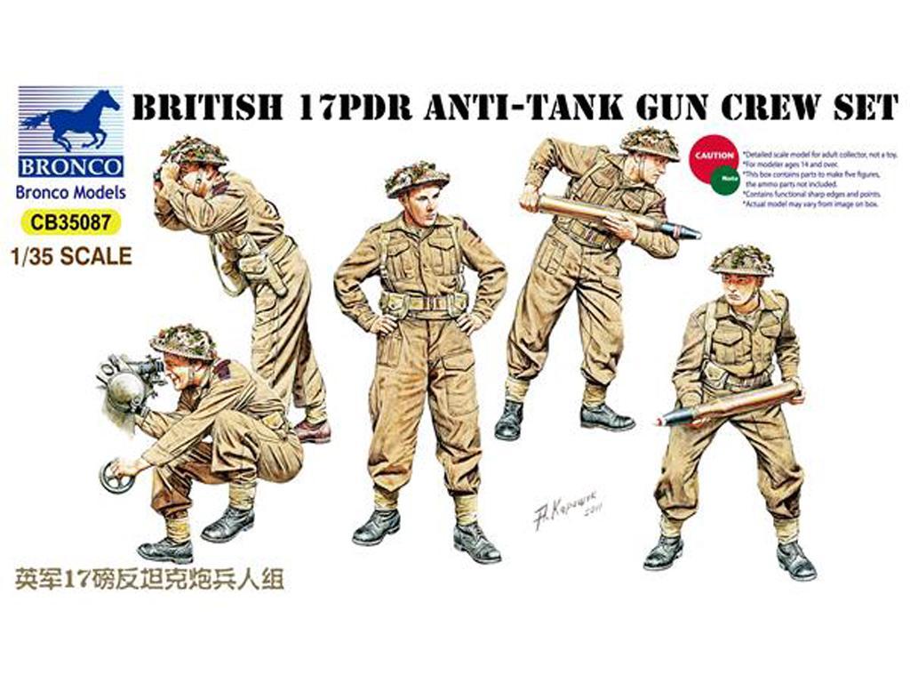 17pdr Anti-Tank Gun Crew set (Vista 1)