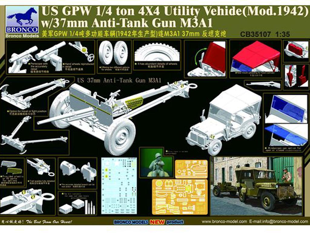 US GPW 4x4 Light Utility Truck w/37mm An (Vista 2)