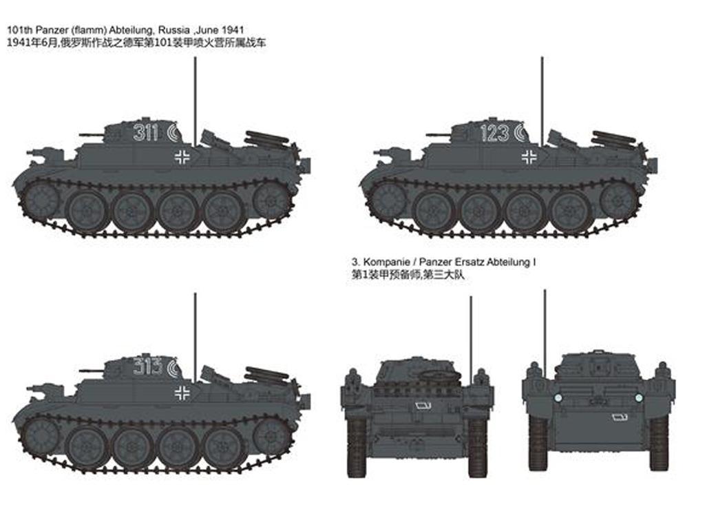 Panzerkampfwagen II Flamm Ausf.E (Vista 2)