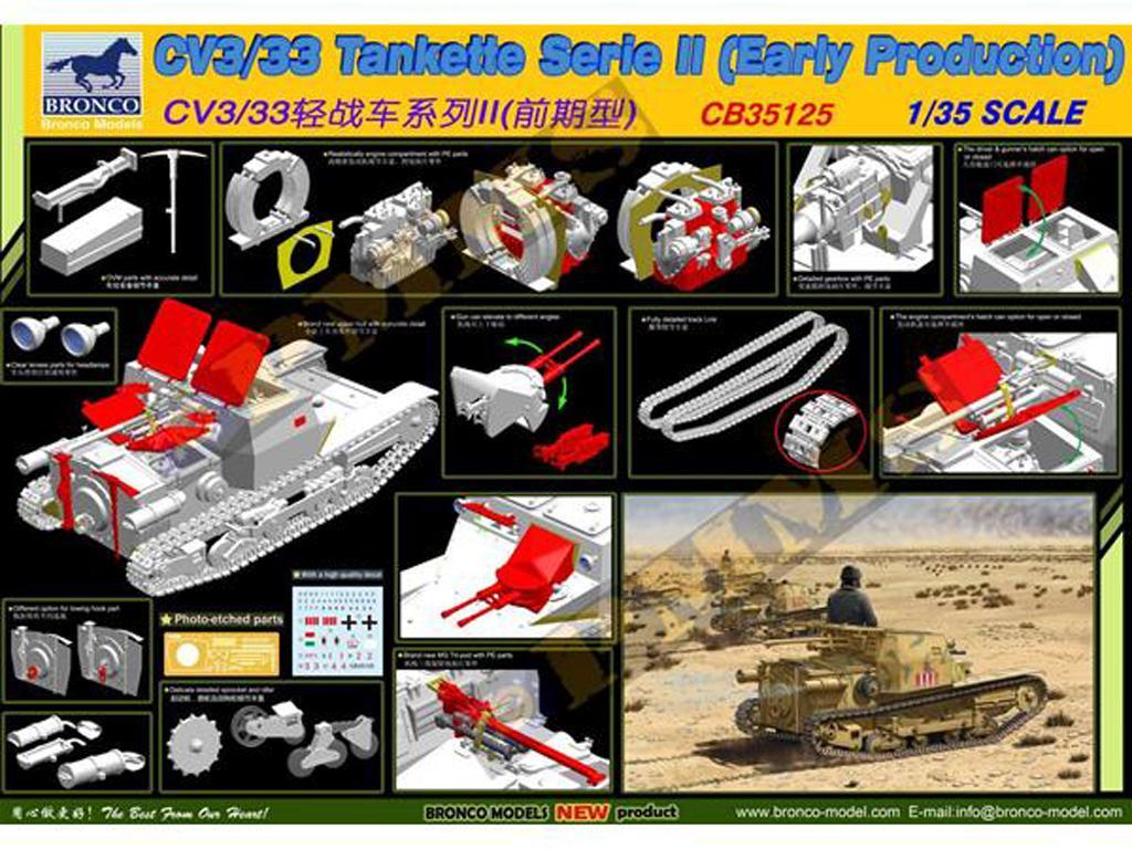 CV3/33 Tankette Serie II  (Vista 3)