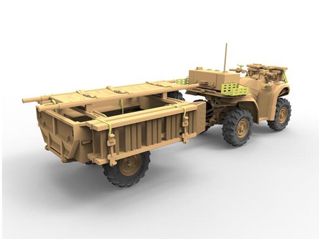 ATV Quad del Ejército Británico y Trailer con Soldados (Vista 4)