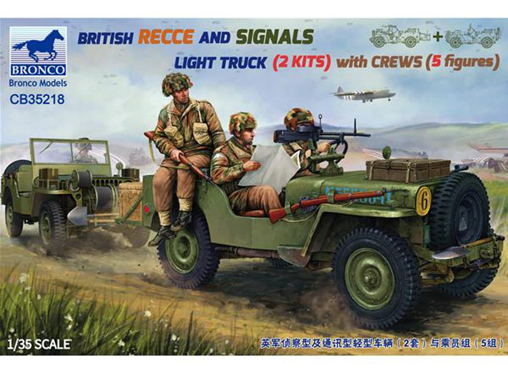 British Recce and Signals Light Truck (2 Kits ) with Crews (Vista 1)
