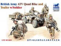 ATV Quad del Ejército Británico y Trailer con Soldados (Vista 7)