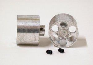Llanta aluminio 21.5x16mm, eje 3mm., dis  (Vista 1)