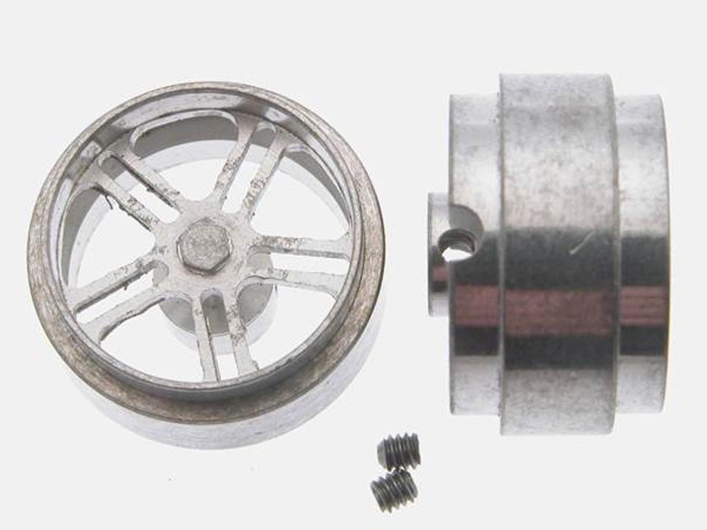 Llanta aluminio 17x10mm. eje 3/32 (Vista 1)
