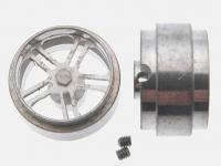 Llanta aluminio 17x10mm. eje 3/32 (Vista 2)