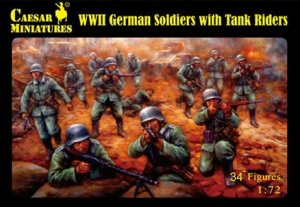 German Soldiers with Tank Riders  (Vista 1)