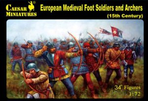 European Medieval Foot Soldiers and Arch  (Vista 1)