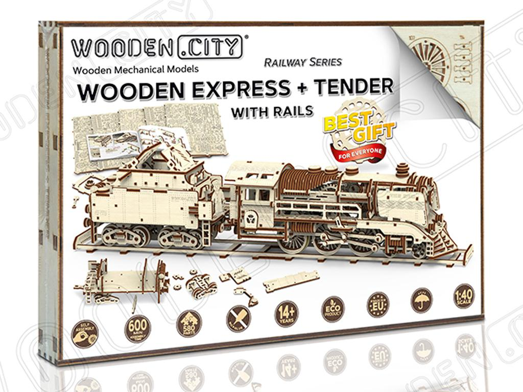 Express & Tender with Rails scale  (Vista 1)