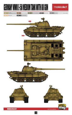 E-50 Medium Tank with 88 Gun  (Vista 2)