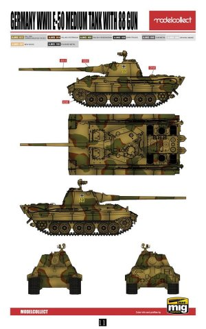 E-50 Medium Tank with 88 Gun  (Vista 3)
