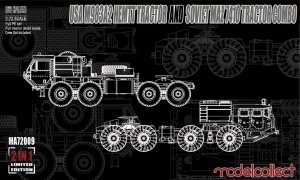 USA M983A2 HEMTT Tractor and Soviet MAZ   (Vista 1)