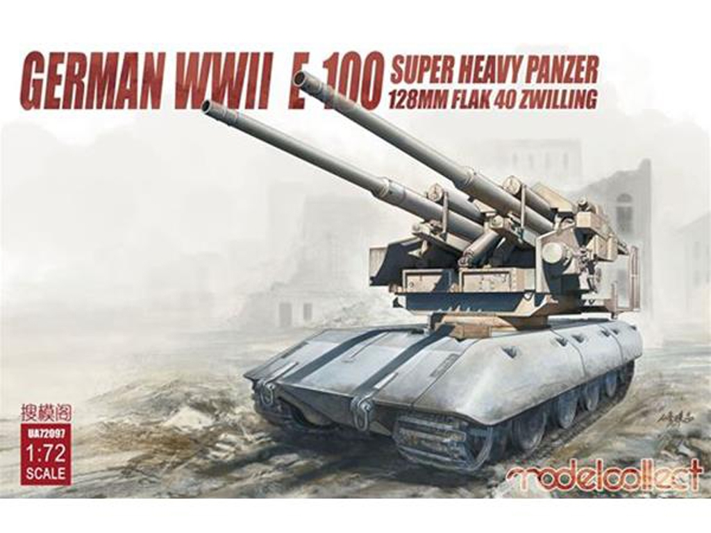 E-100 super heavy panzer with 128mm flak  (Vista 1)