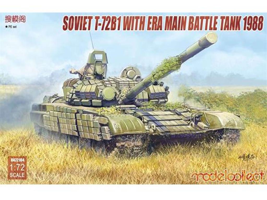 Soviet T-72B1 with ERA main battle tank   (Vista 1)