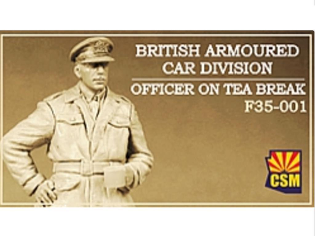British Armoured Car Division Officer on Tea Break (Vista 1)