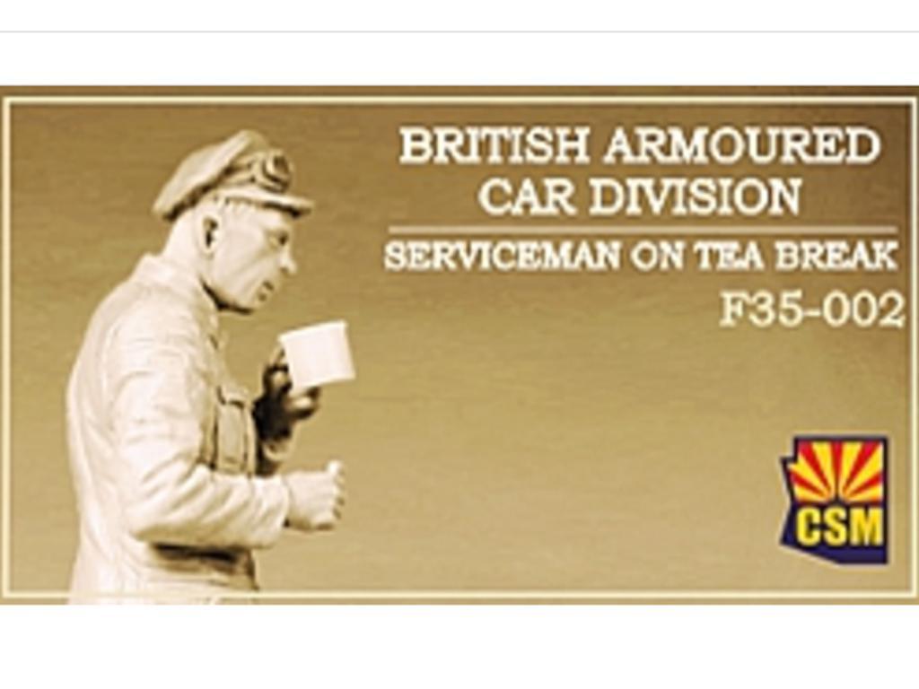 British Armoured Car Division Serviceman on Tea Break (Vista 1)