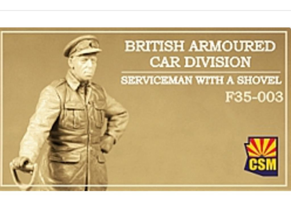 British Armoured Car Division Serviceman with a shovel (Vista 1)