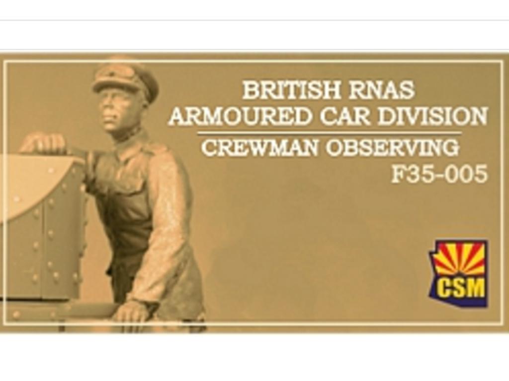 British RNAS Armoured Car Division Crewman Observing (Vista 1)