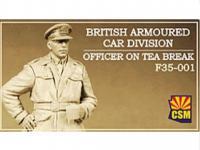 British Armoured Car Division Officer on Tea Break (Vista 3)