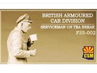 British Armoured Car Division Serviceman on Tea Break (Vista 3)
