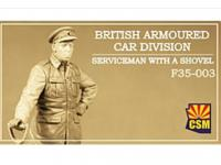 British Armoured Car Division Serviceman with a shovel (Vista 3)