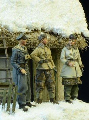 Waffen SS Officers Winter 1943-45  (Vista 3)
