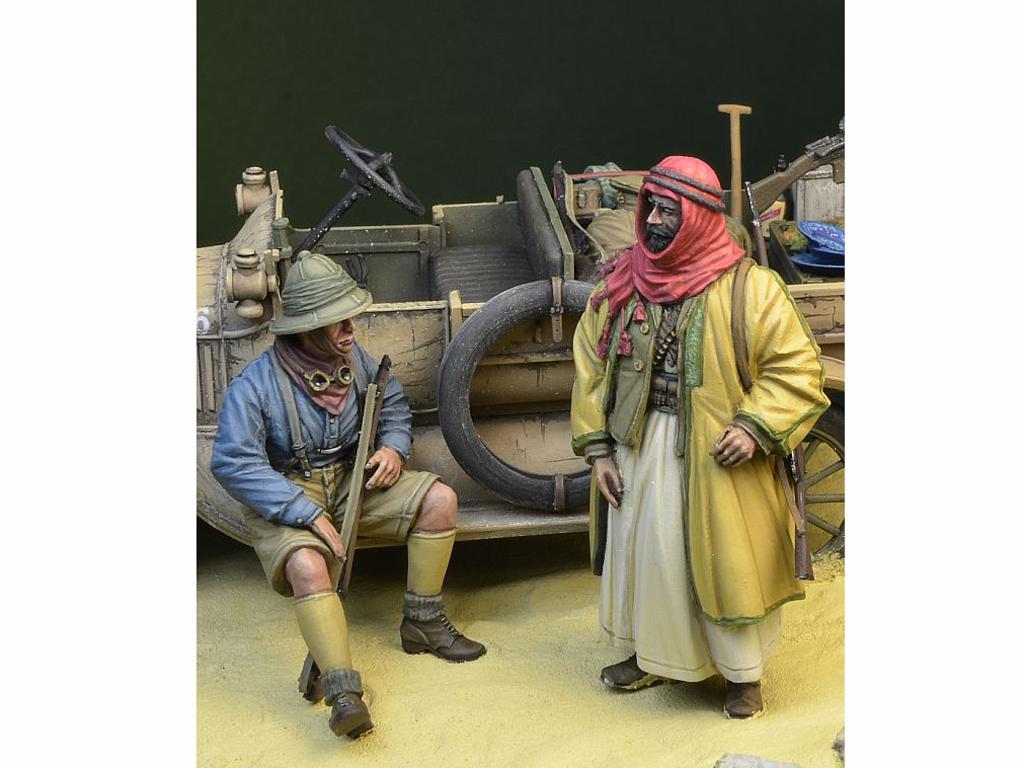 Soldado Anzac y Guerrero Árabe (Vista 1)