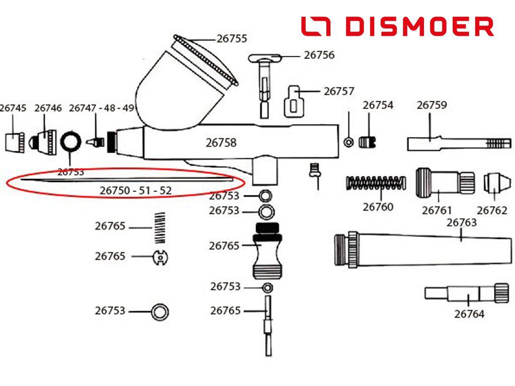 Aguja 0,3mm D-102, D-103 y D-116 (Vista 2)