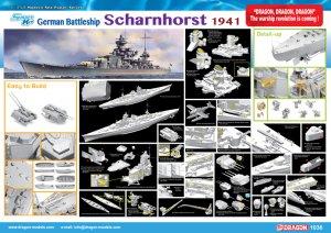 German Battleship Scharnhorst 1941  (Vista 5)