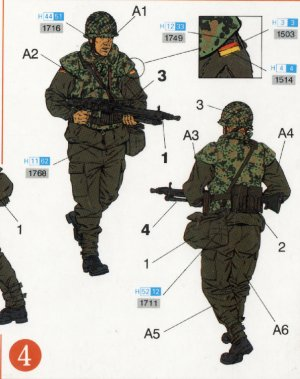 Paracaidistas modernos Alemanes  (Vista 5)