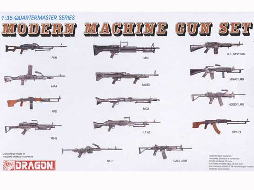 Weapons Modern Machine Gun Set  (Vista 1)