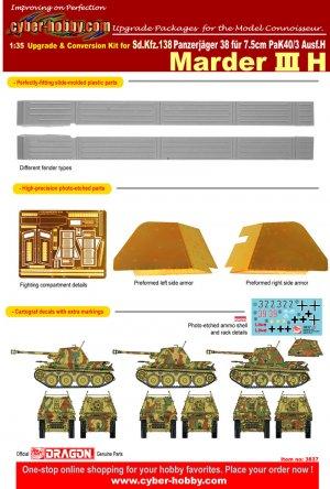 Marder III Ausf.H upgrade set  (Vista 1)
