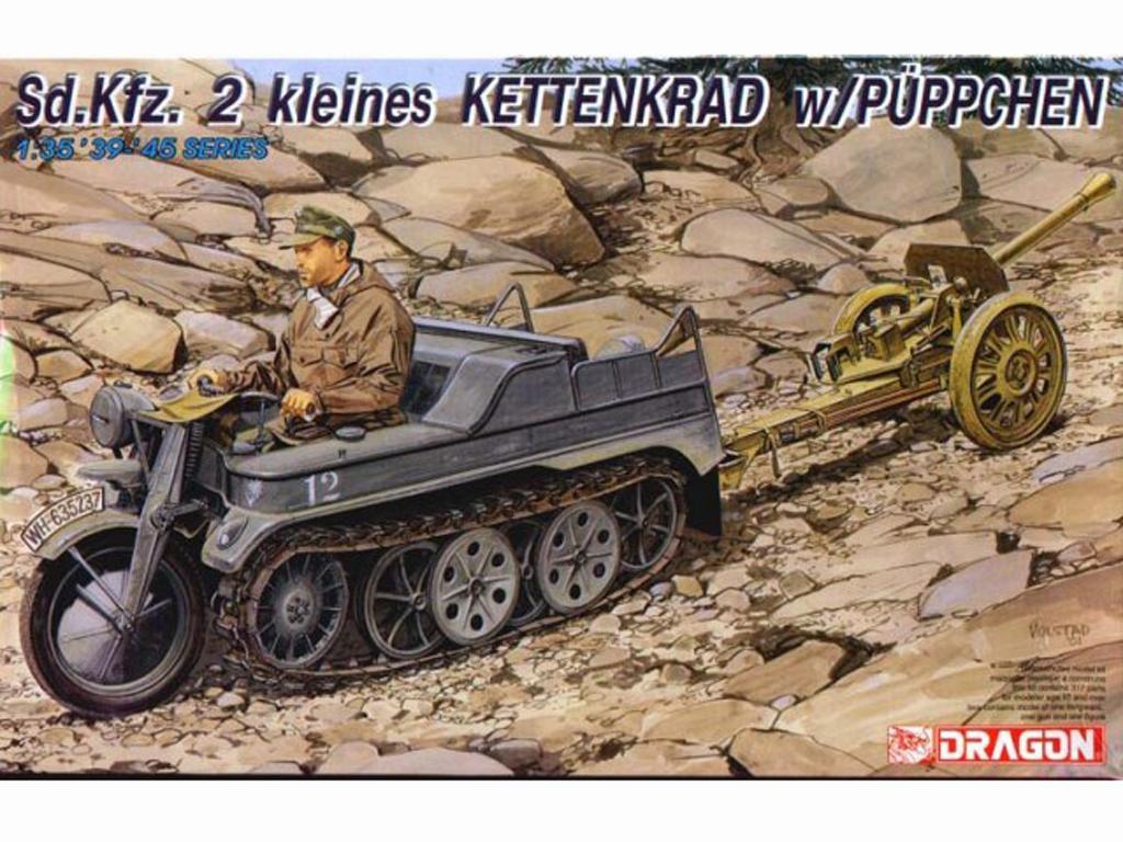 Sd.Kfz.2 Kleines Kettenkrad w/Puppchen - Ref.: DRAG-6114