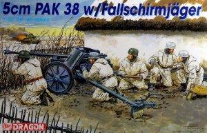 Cañon Aleman PAK 38 y servidores - Ref.: DRAG-6118