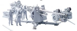 Cañon 88mm Flak 36 y sirvientes  (Vista 2)
