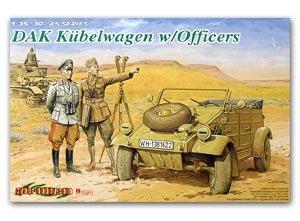 Kubelwagen con Rommel y Oficiales  (Vista 1)