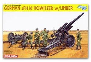 Obus alemán 15 cm. sFH 18 con remolque - Ref.: DRAG-6392