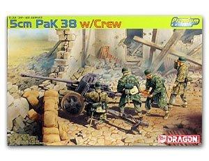 Cañon Aleman 5cm PaK 38 y artilleros - Ref.: DRAG-6444