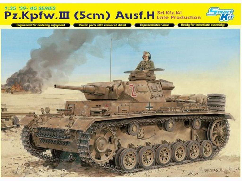 Sd.Kfz.141 Pz. Kpfw.III (5cm) Ausf. H, L  (Vista 1)