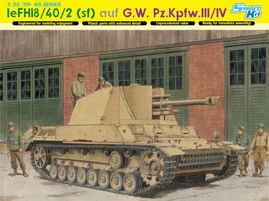 le.FH18/40/2(sf) auf G.W.Pz.Kpfw.III/IV  (Vista 1)