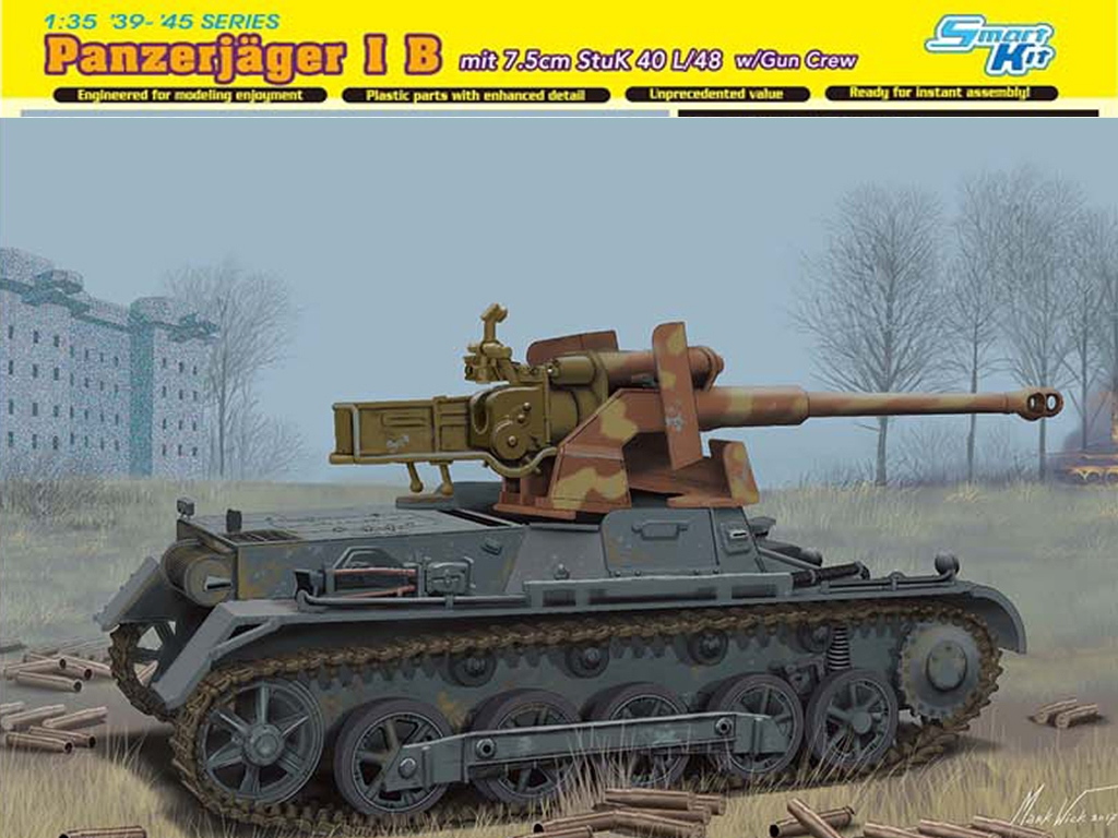 Panzerjager I B mit Stuk L/48  (Vista 1)
