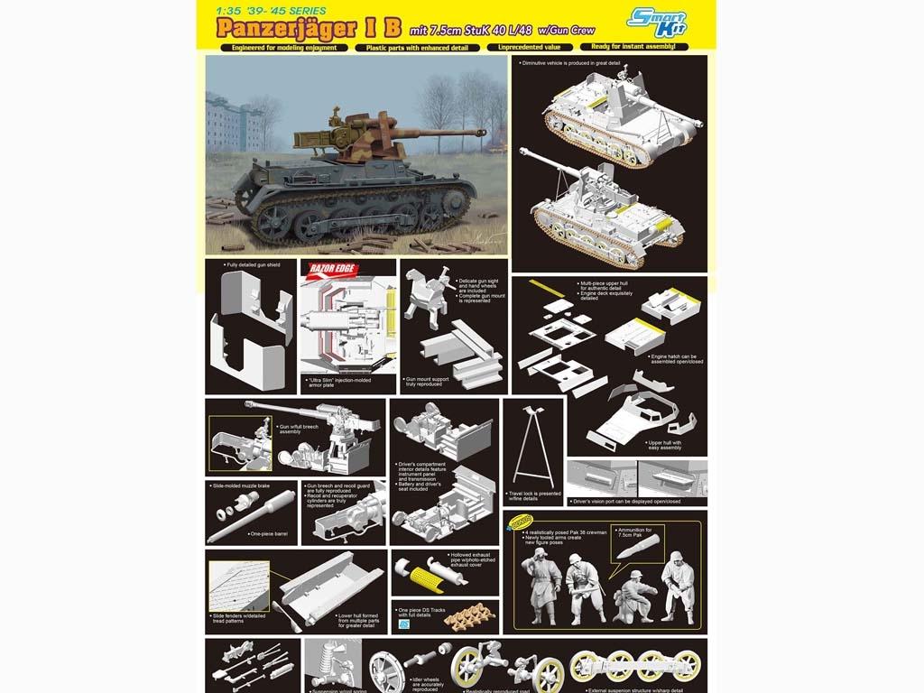 Panzerjager I B mit Stuk L/48  (Vista 2)
