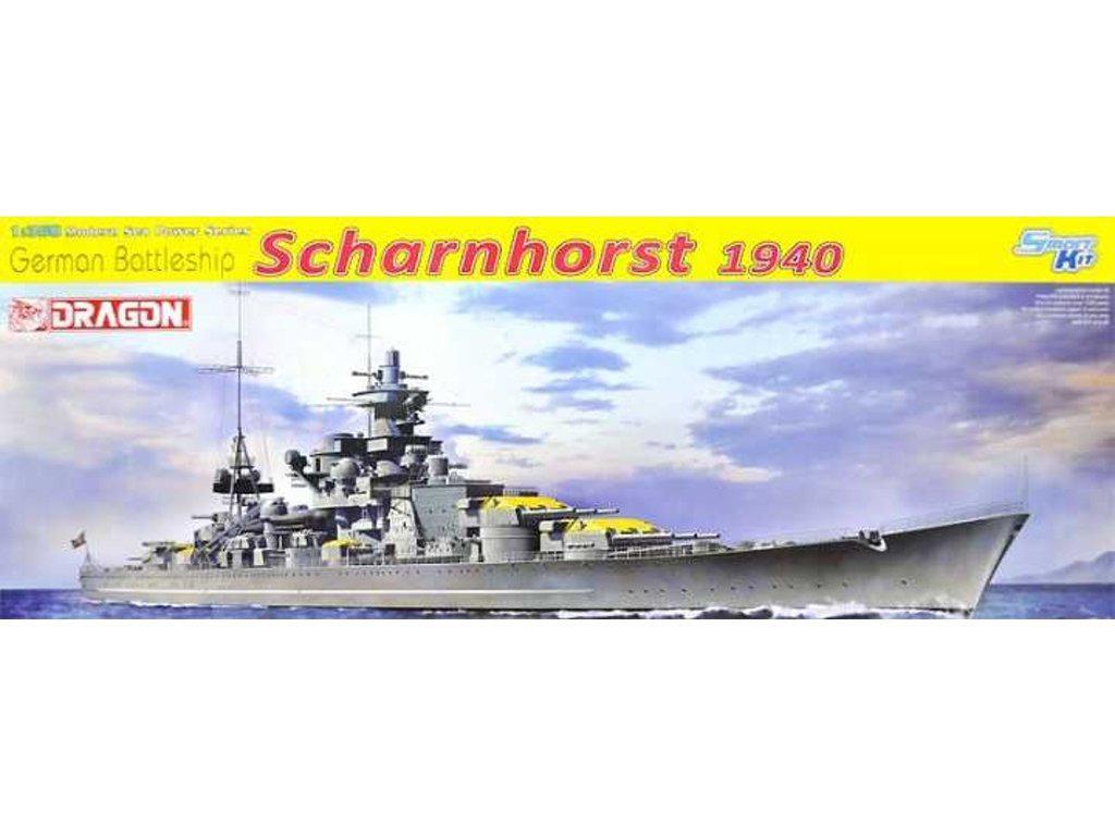 Acorazado Alemán Scharnhorst, 1940 (Vista 1)