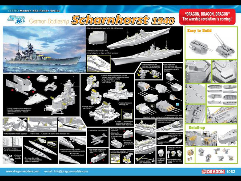 Acorazado Alemán Scharnhorst, 1940 (Vista 2)
