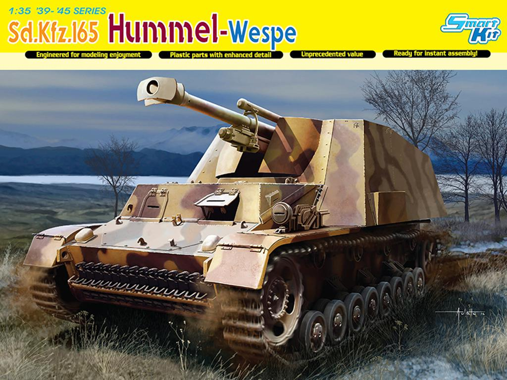Autopropulsado alemán Sd.Kfz.165 Hummel- (Vista 1)